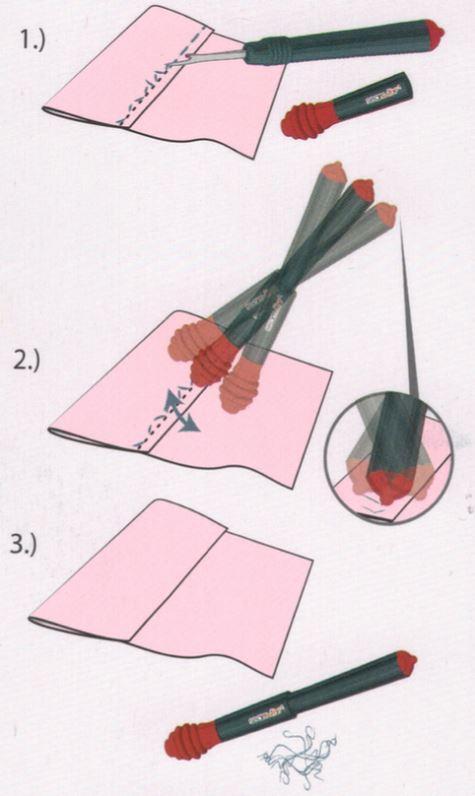 nožek za paranje navodila